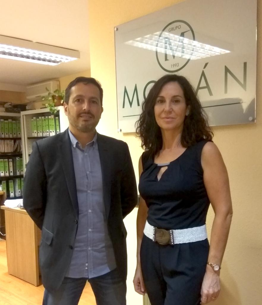 José María Alfaro -Gerente de Nuevo Milienio- y Marina Sánchez - Gerente de Grupo Mosán-